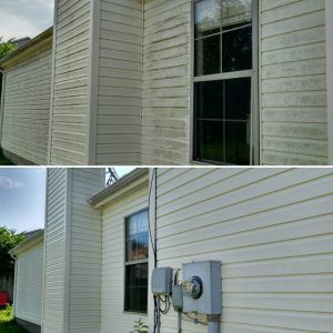 Before & After Softwash