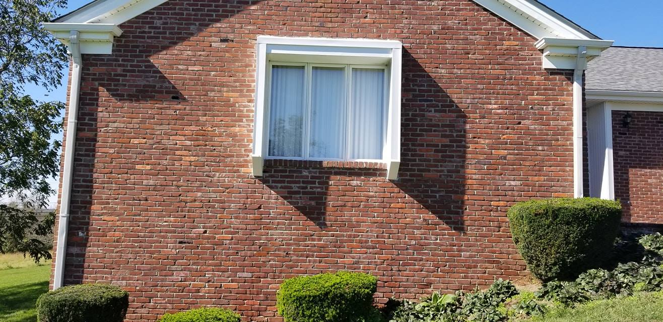 cleaned brick house