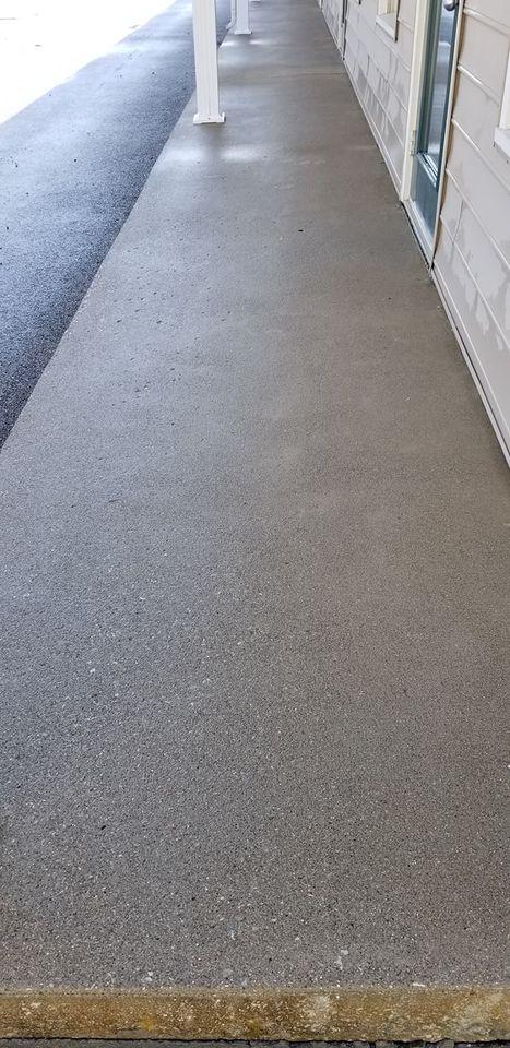 washed sidewalk