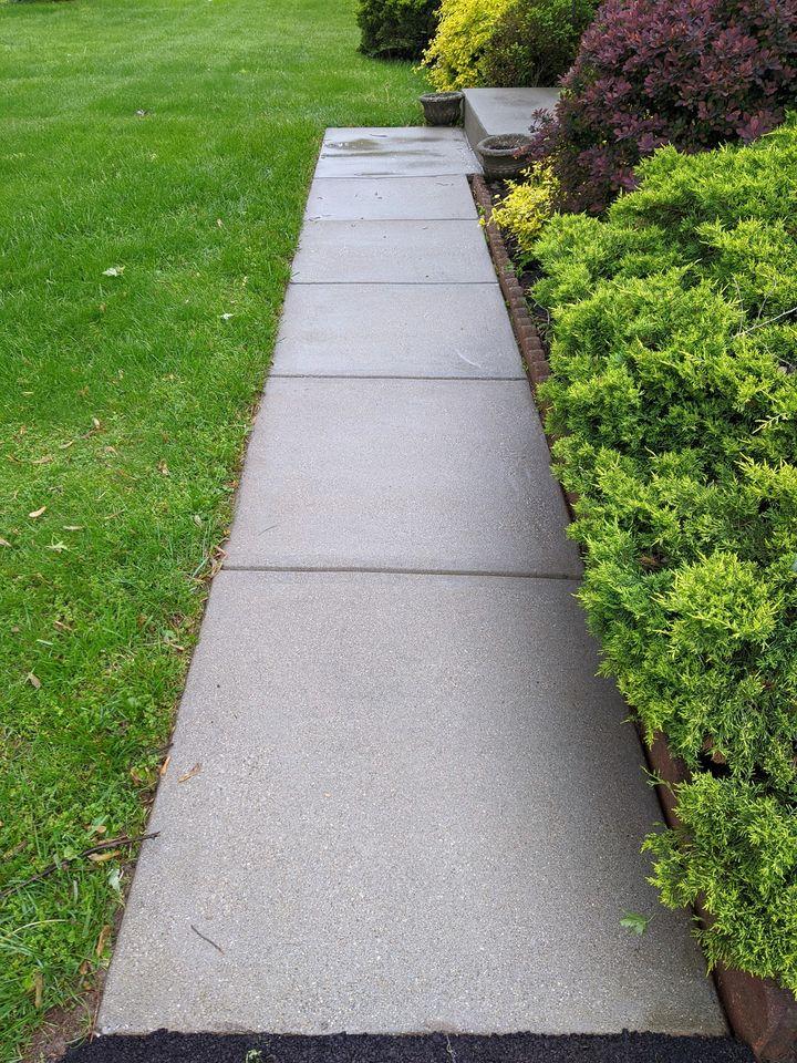 cleaned sidewalk